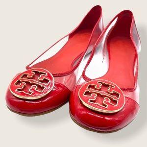 Tory Burch Red Flats 7.5